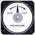 """106452AAAA - AB-40 AC Synchroscope Rating- 120V, 60 HzScale- """"Slow-Fast""""Legend- SYNCHROSCOPE - Product Image"""
