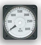 103021PMPM7NRR-P - AB40 PLASTIC CASE GE LOGORating- 0-110 V/ACScale- 0-3300Legend- AC VOLTS - Product Image