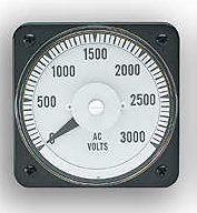 103111FAFA7SFB - DB40 AMMETERRating- 0-1 mA/DCScale- 0-3000Legend- AC VOLTS - Product Image