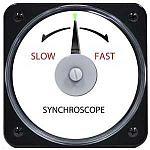 "106452DCAA - AB-40 AC Synchroscope Rating- 240V, 400 HzScale- ""Slow-Fast""Legend- SYNCHROSCOPE - Product Image"
