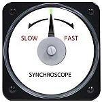 """106452ACAA - AB-40 AC Synchroscope Rating- 120V, 400 HzScale- """"Slow-Fast""""Legend- SYNCHROSCOPE - Product Image"""