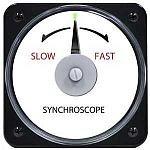"106452ADAA - AB-40 AC Synchroscope Rating- 120V, 50/60 HzScale- ""Slow-Fast""Legend- SYNCHROSCOPE - Product Image"
